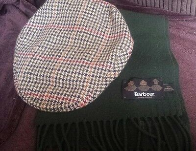 Barbour Flat Cap And Scarf