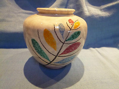 Vintage/Retro West German Hand Painted Vase