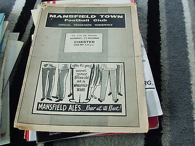 Mansfield Town V Chester 1959-60 Fa Cup 2Nd Round