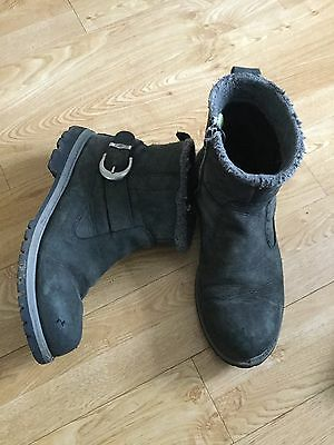 Mens Dark Grey Timberland Boots, Size 7.5