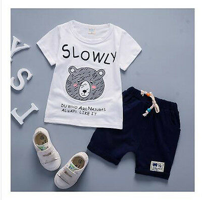 NEW 2017 kids clothes Summer Baby Boys Clothing Sets Children Fashion Animals