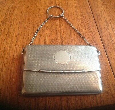 Hallmarked Silver Chatelaine Purse Mappin and Webb 1937