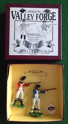 Britains Metal Toy Soldiers Valley Forge Centenary Set 5872 - 2 AWI Figures