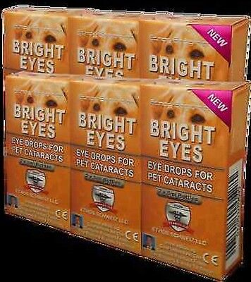 Ethos Bright Eyes NAC Cataract Eye Drops For Pets, All Animals And Birds 6 BOXES