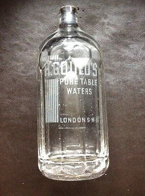 Art-Deco H. Gould's Pure Table Waters, London S. W.11,Soda Syphon