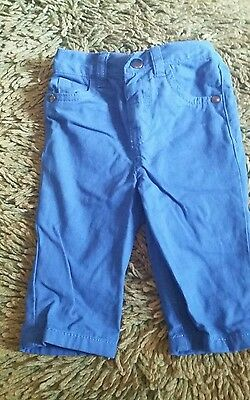 F&F 3/6 months baby boy trousers. Blue