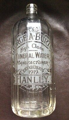 George A. Burton Mineral Water Manufacturers, Hanley, Soda Syphon.