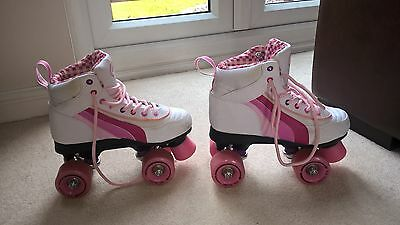 Roller Boots SFR Rio Quad Skates size UK 3 white and pink