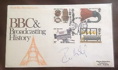 First Day Cover hand signed by Ian Hislop