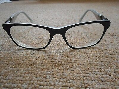 fcuk French Connection black and white unisex glasses frames