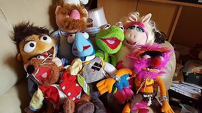 The Muppets Miss Piggy & Kermit The Frog Disney Plush Soft Toy Both with TAG
