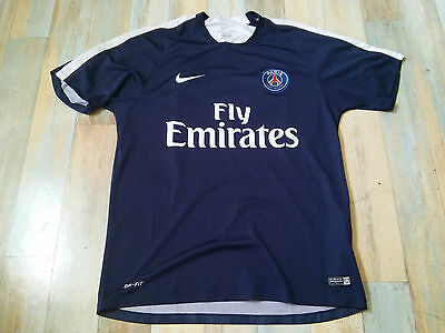 Maillot FOOT NIKE PSG PARIS ST GERMAIN FLY EMIRATES TAILLE/L/D6 TBE
