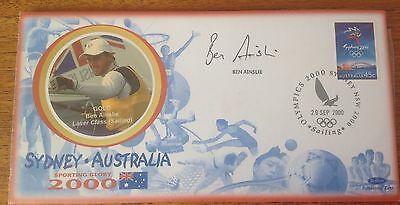 Benham First Day Cover signed by Sir Ben Ainslie