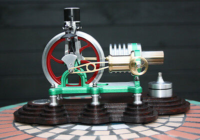 Hot Air Stirling Engine Heißluftmotor Stirlingmotor + Wirbelstrom Generator LED