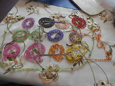 SPECTACLE CHAINS beaded glasses glass crystal eyeglass spec handmade bead