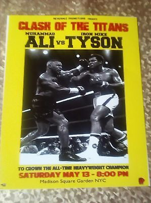 MUHAMMD ALI vs MIKE TYSON, FANTASY FIGHT PHOTO