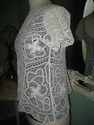 Vintage Hand Made Needle lace Blouse