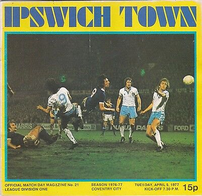 Ipswich Town V Coventry City Division One 5/4/77