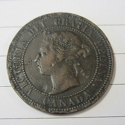 1891  Large Cent Canada Coin