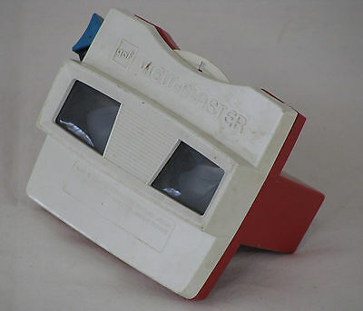 GAF View-Master Model G Viewer Red & White with Strange Animals Reel