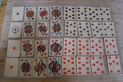 Miniature French Playing Cards 32 Card Deck Advertising Bouillon Kub No Indices