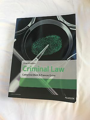Criminal Law by Catherine Elliott, Frances Quinn (Paperback, 2016)