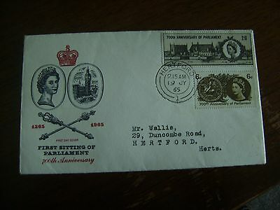 700th anniverary of parliament first day cover 1965.
