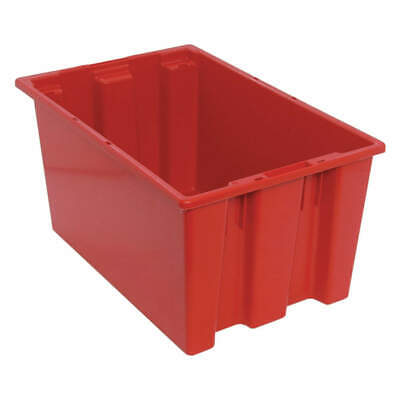QUANTUM STORAGE SYSTEMS Nest and Stack Container,23-1/2 in L,Red, SNT240RD, Red
