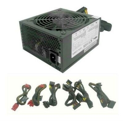 SHARK® 1200W Modular Cable ATX Power Supply Silent 140mm Fan 1000W Gaming PC PS