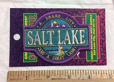 NIP Salt Lake City UTAH UT Grand City Great Lake Souvenir Patch