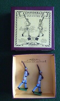 Britains Toy Soldiers ACW Confederate Infantry Set #8881 - 2 Metal Figures