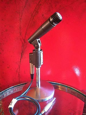 Vintage 1970's Shure SM-56 dynamic cardioid microphone old Jim Morrison w cable