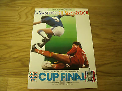 EVERTON v LIVERPOOL CUP FINAL 1986 PROGRAMME