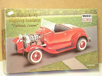 Minicraft #11222 1/16 1931 Ford A-V8 Highboy Roadster Open/si