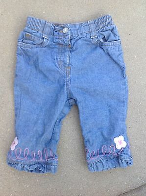 Girls Baby Blue Mini Mode Jeans3-6 Months