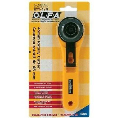 OLFA Rotary Cutter Steel Blade 45mm Sewing Quilting Crafts RTY 2/G Model 9651