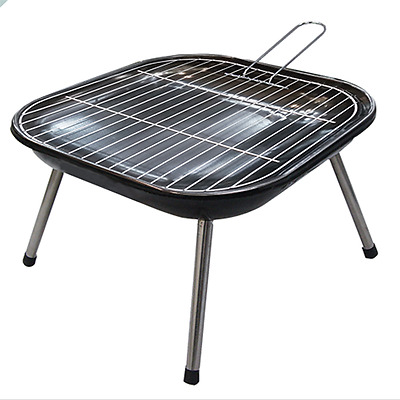 outdoor BBQ with a net and 4 legs, can be unloaded and assembled 35cm*2