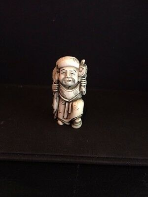 Netsuke in Collectibles  Beautifully carved Japanese piece with signiture