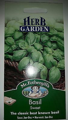 Mr. Fothergill's Seeds ~ Basil ~ Sweet ♡♡♡ new & unopened ☆☆☆