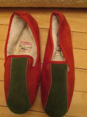 Vintage Well Used Clarks Slippers Size 4