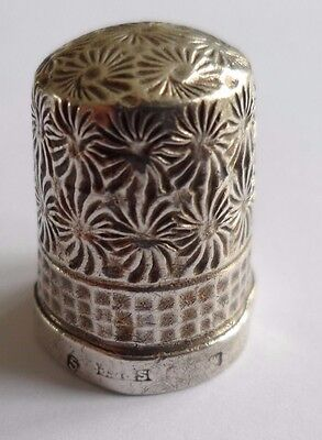 Antique silver thimble, size 5, dating to 1921?