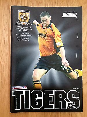 Hull vs Oxford 2004 Programme Signed with Ticket and Team Sheet.