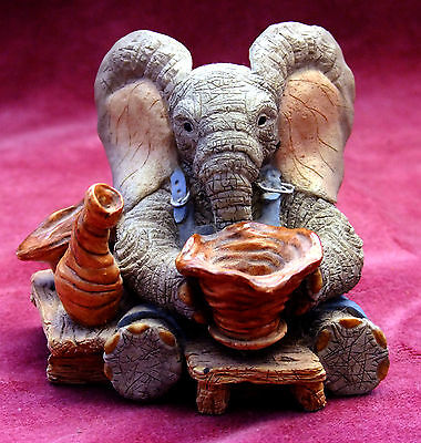 "Tuskers Elephant Figure.""peter The Potter""."
