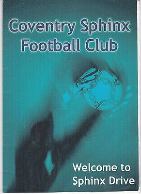 Coventry Sphinx V Feckingham Midland Combination League  22/2/2003