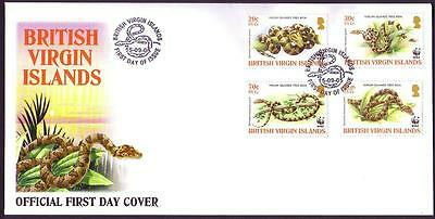 BVI WWF Virgin Islands Boa FDC