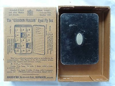 VINTAGE Hardy Bros Girodon DRY FLY BOX Pralon 9 compartment with Hardy box