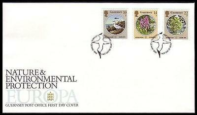 Guernsey Birds Europa Nature and Environmental Protection FDC SG#366/68