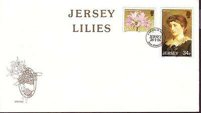 Jersey Lilies FDC SG#380/81