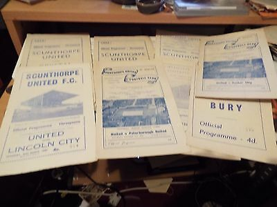 8 x Scunthorpe United Home Programmes Early1960s