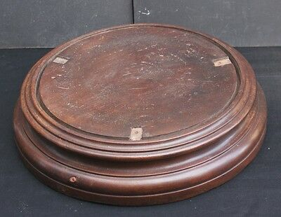 A Large Antique Victorian? Turned Mahogany Base for a Glass Dome Display Stand